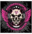 Zombi Apocalypse - emblem with skull on grunge vector image