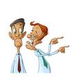 Business men gossiping vector image