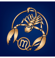 Scorpion Zodiac Sign on the blue background vector image