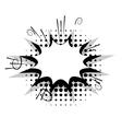 Blank template comic speech star bubble boom vector image
