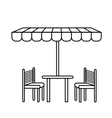 tent table chairs vector image