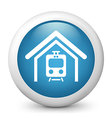 train station glossy icon vector image vector image