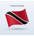Trinidad and Tobago flag waving form vector image