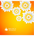 Paper flowers postcard vector image vector image