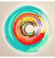 Watercolor Abstract Circles vector image