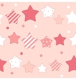 Cute Star Seamless Pattern Background vector image vector image