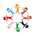 Stylized kids of different colors vector image