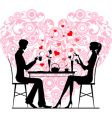 couple at cafe vector image