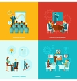 Business Training Flat vector image