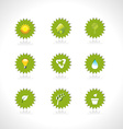 set of eco tags vector image