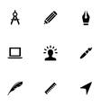 design 9 icons set vector image