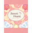 elegant cute sweet pastel peach pink heart shape vector image
