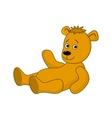 teddy-bear laying vector image