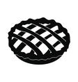 Pie icon black vector image