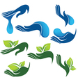 Collection of eco and beauty symbols vector image