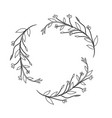 branches with leaves and flowers decoration vector image