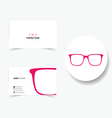business card with sunglasses vector image