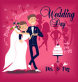 card for wedding day vector image