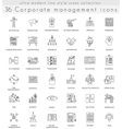 Corporate managment ultra modern outline vector image