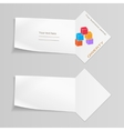Paper banner with cube logo Labels for your text vector image