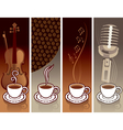 coffee and music vector image vector image