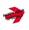 Happy hour specials stamp vector image