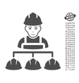 Builder Management Icon With Bonus vector image