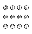 a small set of web icons vector image