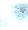 abstract light blue flower vector image