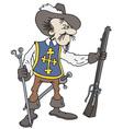 Musketeer vector image