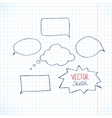 Set of blank speech bubbles with space for text vector image vector image