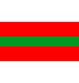 transnistria flag vector image vector image