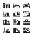 Different industrial plants vector image
