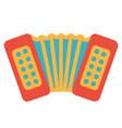 art design of classic music instrument accordion vector image