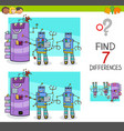 differences game with comic robot characters vector image