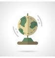 Earth model flat color icon vector image