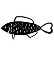 fish emblem vector image