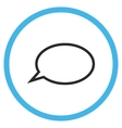Hint Cloud Flat Rounded Icon vector image