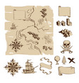 make your own fantasy or treasure maps vector image