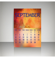 Polygonal 2016 calendar design for SEPTEMBER vector image