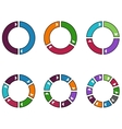 Set of Colorful Circles vector image