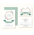 Wedding design template Floral decoration style vector image