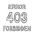 403 connection error vector image