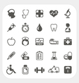 Medical and health icons set vector image vector image
