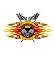 Motor racing championship icon vector image