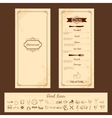 Template for Menu Card vector image