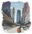 Hong Kong drawing vector image vector image