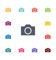photo camera flat icons set vector image