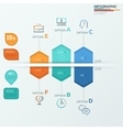 Collection of infographic brochure elements for vector image