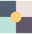 set of cute simple seamless patterns vector image